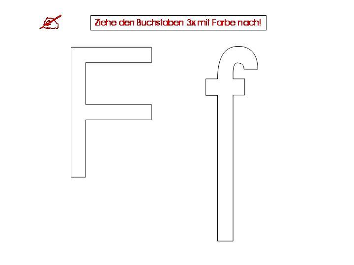 Arbeitsblatt Buchstabe F : Unterrichtsmaterialien zum buchstaben f