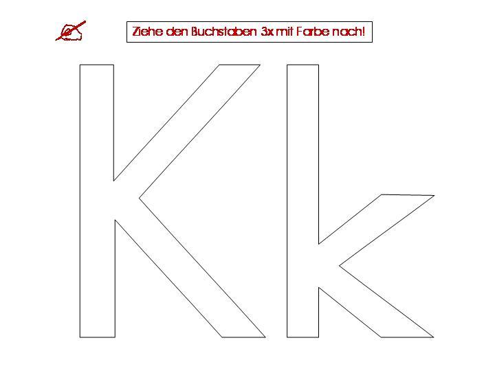 Unterrichtsmaterialien zum Buchstaben K