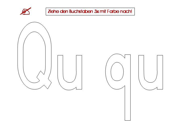 Unterrichtsmaterialien zum Buchstaben Qu