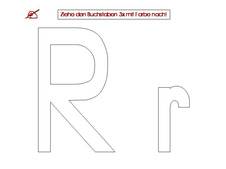 Arbeitsblatt Zum Buchstaben R : Unterrichtsmaterialien zum buchstaben r